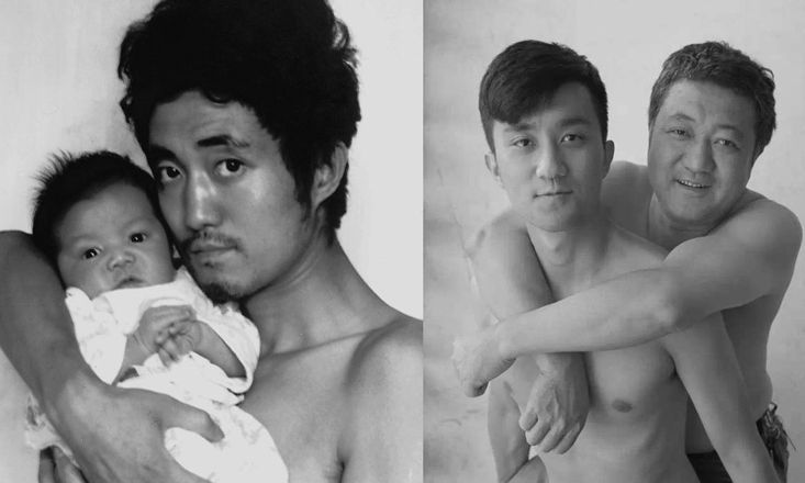 Father and Son Take Same Picture for 26 Years